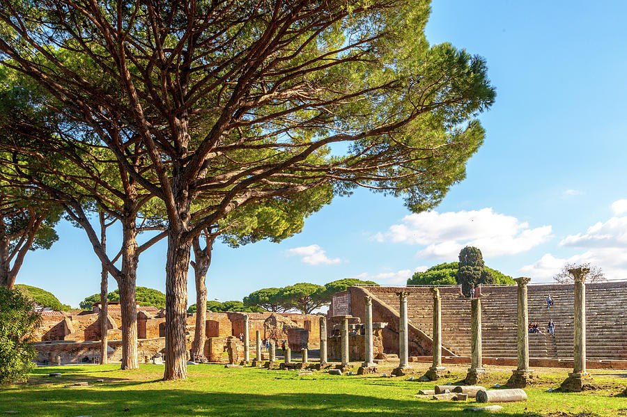 The Theater at Ostia Antica by W Chris Fooshee
