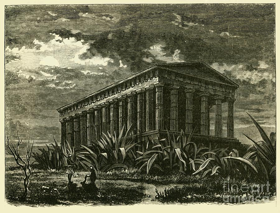The Theseum At Athens Drawing by Print Collector