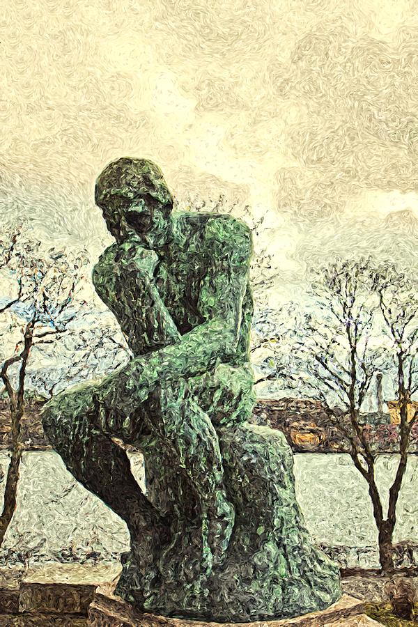 the thinker by Luisa Vallon Fumi