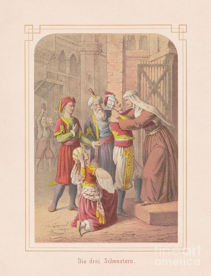 The Three Sisters, Fairy Tale Digital Art by Zu 09
