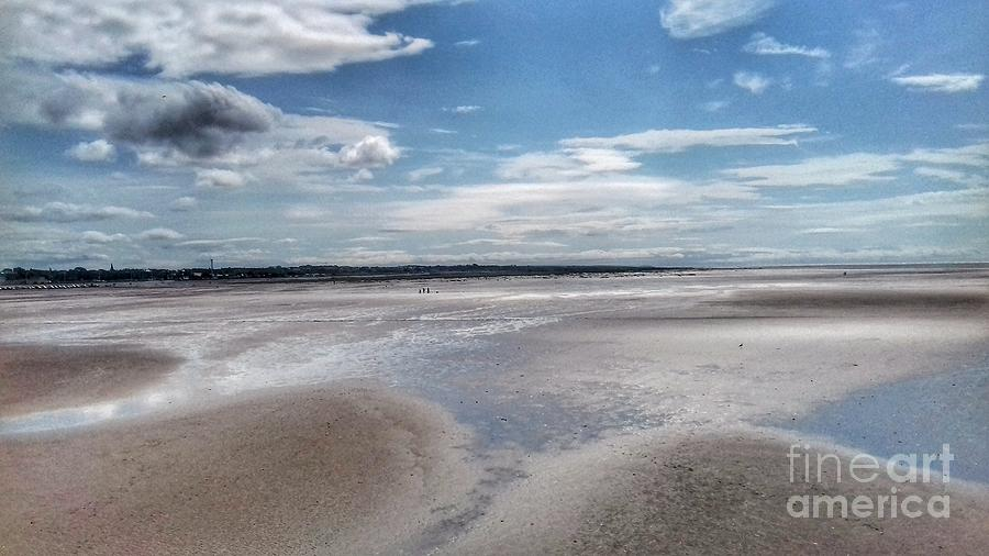 The Tide at Southport Beach by Joan-Violet Stretch