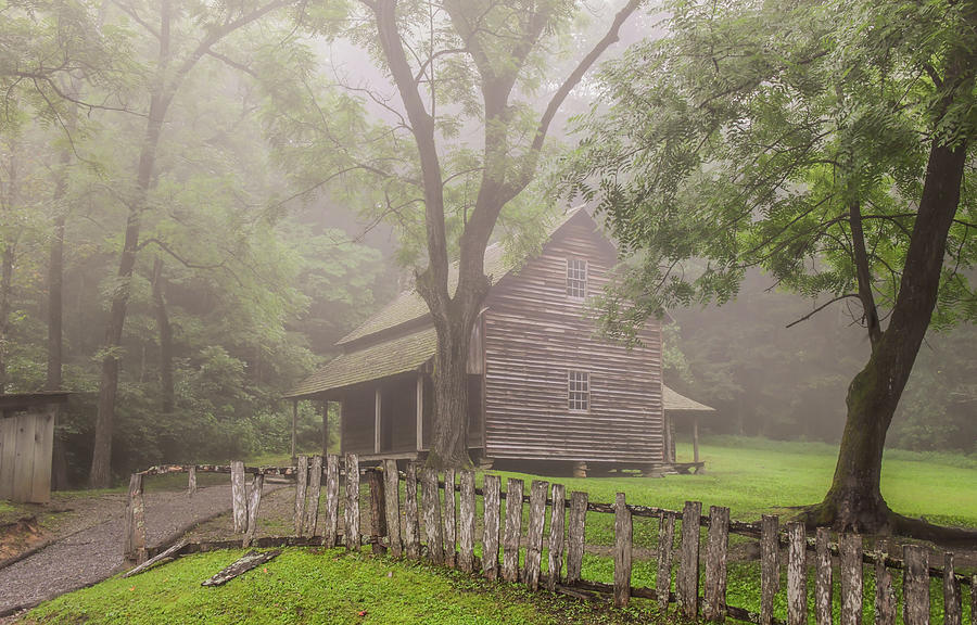 The Tipton Place on a Foggy Morning by Marcy Wielfaert