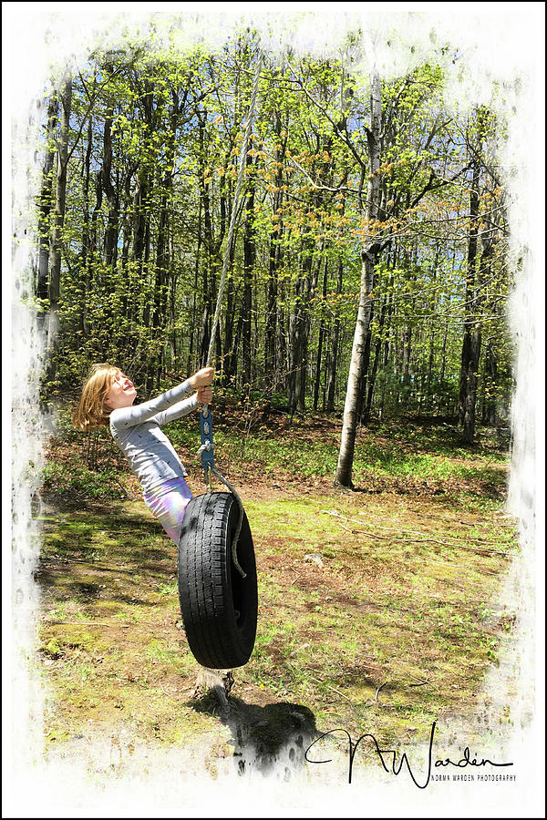 The Tire Swing by Norma Warden