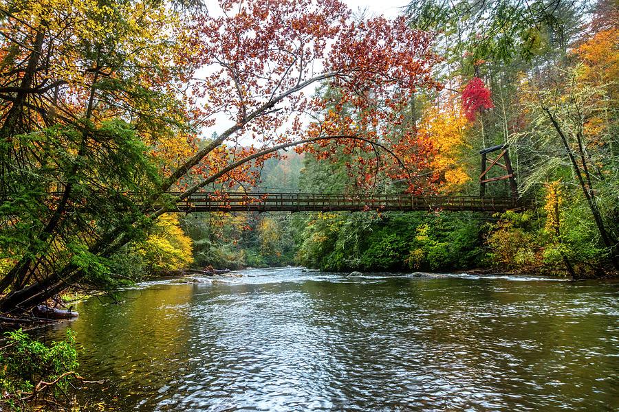 The Toccoa River Hanging Bridge by Debra and Dave Vanderlaan