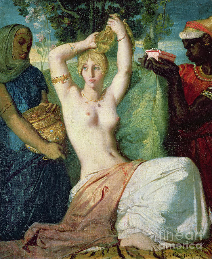 The Toilet of Esther, 1841  by Theodore Chasseriau