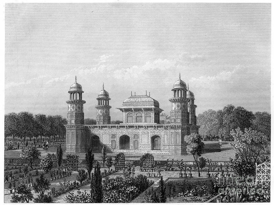 The Tomb Of Itimad-ud-daula, Agra Drawing by Print Collector