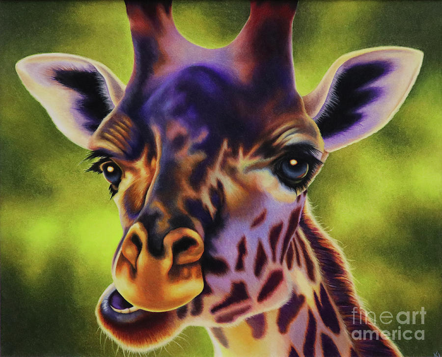 Giraffe Drawing - The Tower by Kinsey Lane