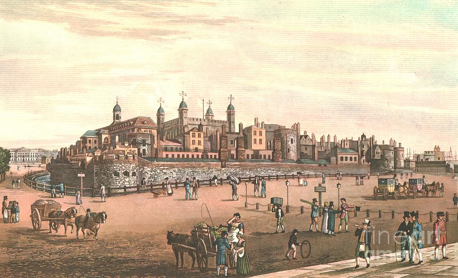 The Tower Of London Drawing by Print Collector