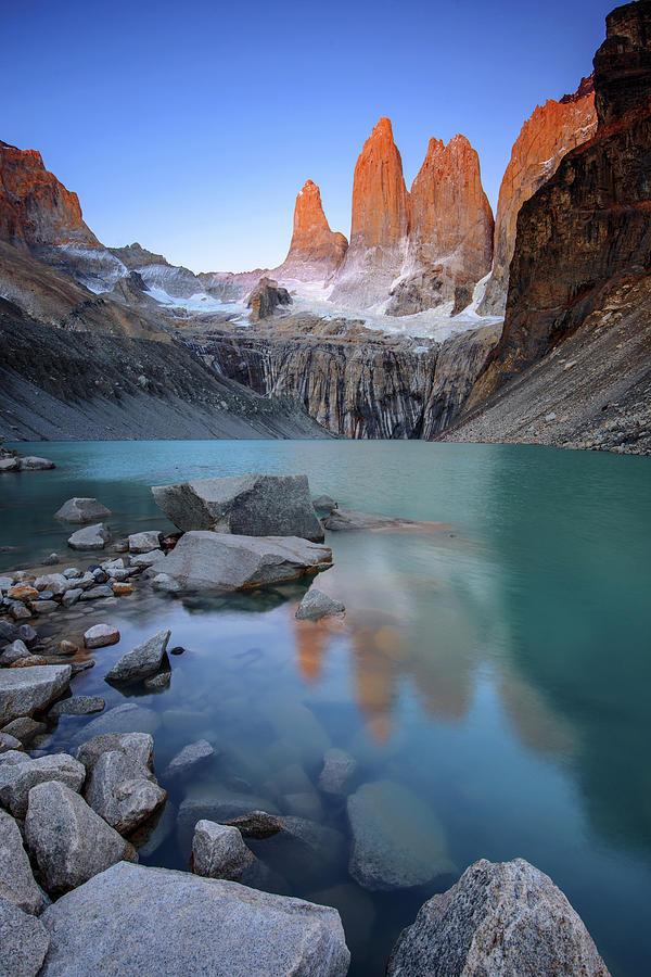 The Towers Alpenglow Photograph by Piriya Photography