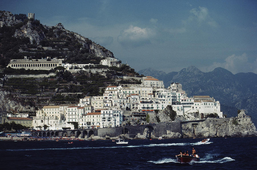 The Town Of Amalfi Photograph by Slim Aarons