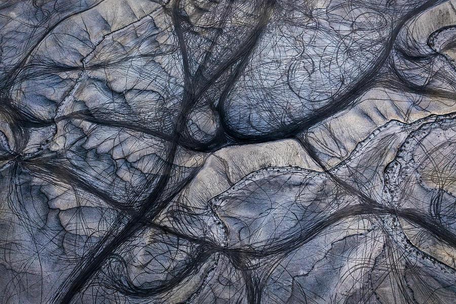 Texture Photograph - The Traces by Shenshen Dou