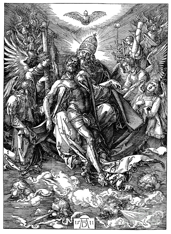 The Trinity The Throne Of Grace, 1511 Drawing by Print Collector
