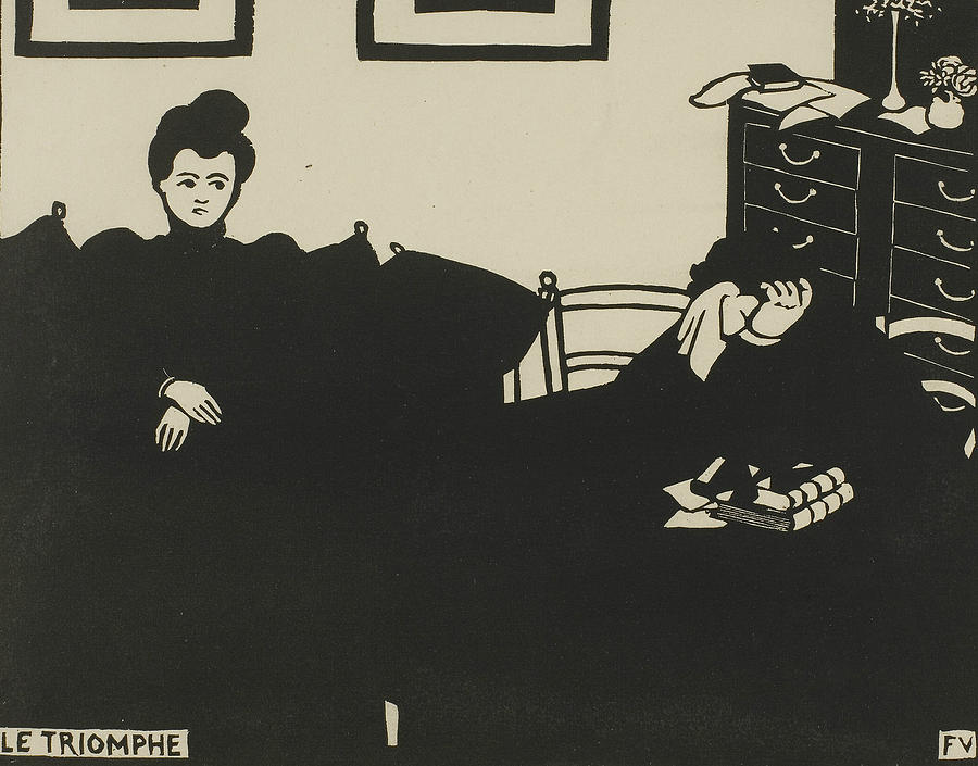 The Triumph, plate two from Intimacies by Felix Edouard Vallotton