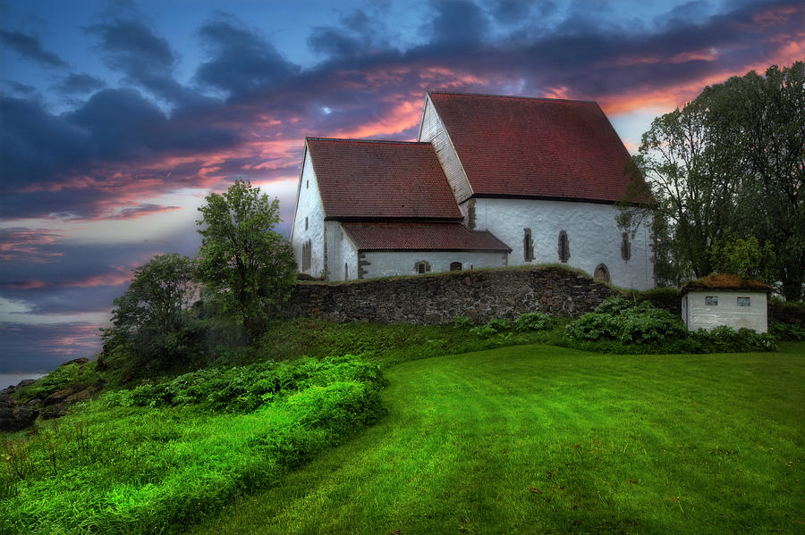 Barns Photograph - The Trondenes Church by Debra and Dave Vanderlaan