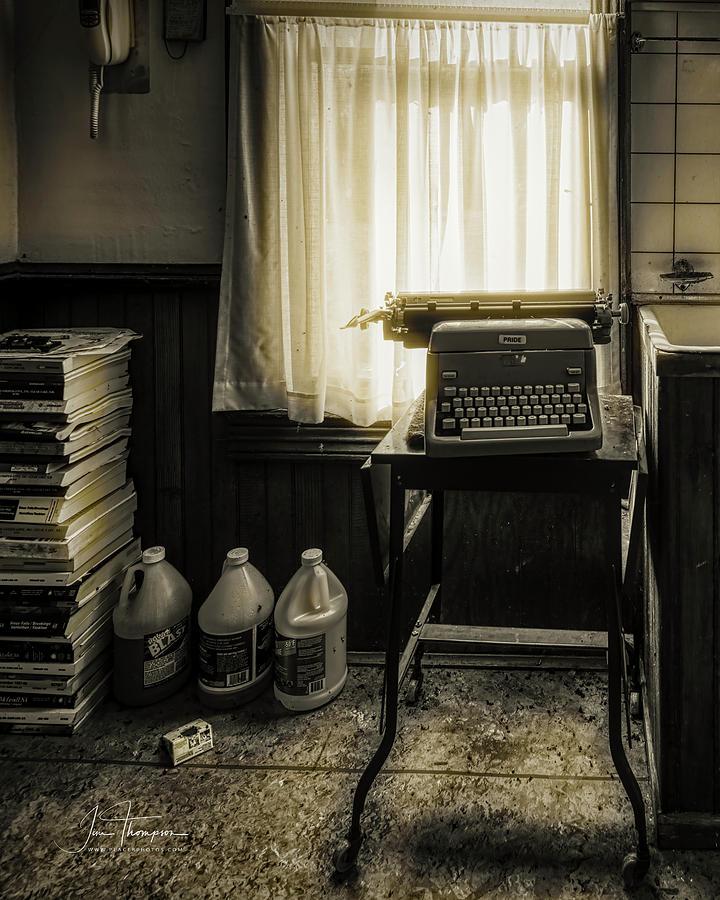 J B Thompson Photograph - The Typewriter by Jim Thompson
