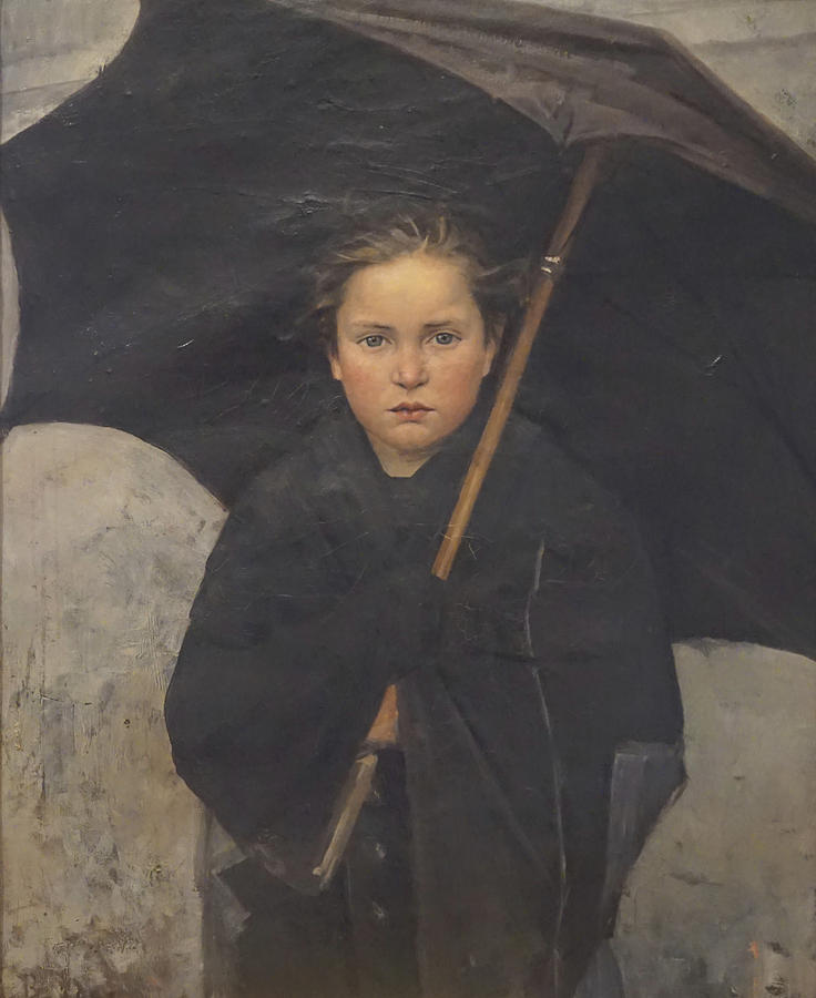 1883 Painting - The Umbrella by Marie Bashkirtseff