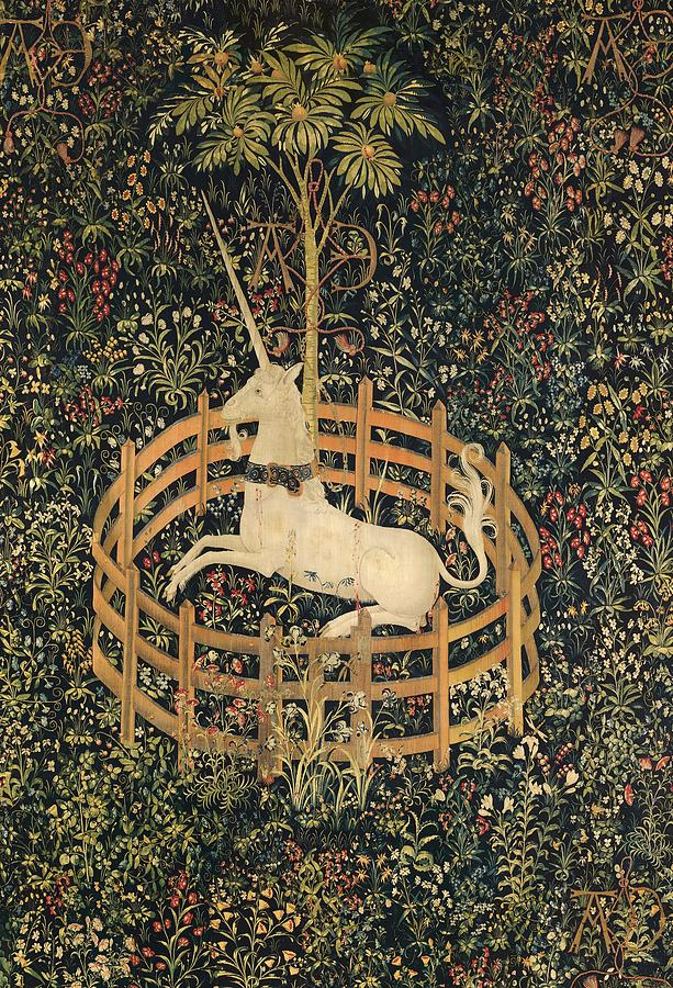 The Unicorn In Captivity Painting