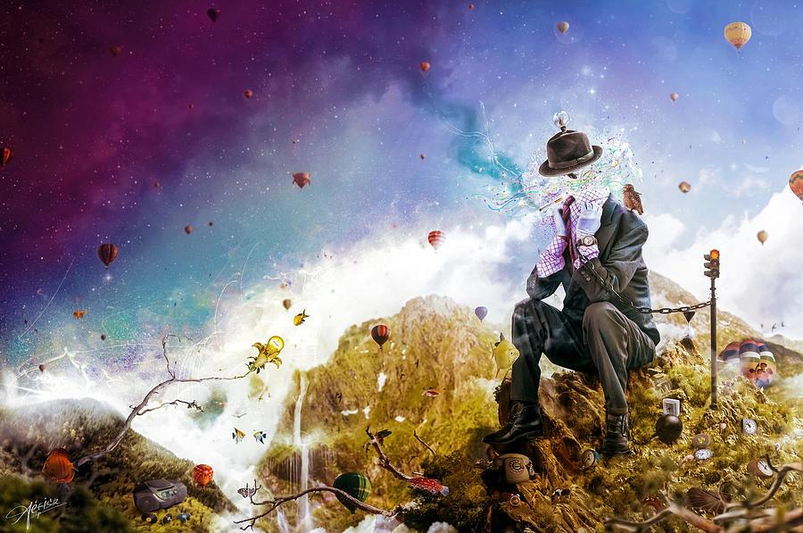 Surreal Digital Art - The Uninspired by Mario Sanchez Nevado