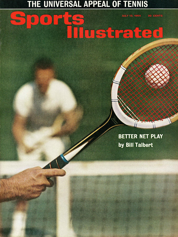The Universal Appeal Of Tennis Better Net Play By Bill Sports Illustrated Cover Photograph by Sports Illustrated