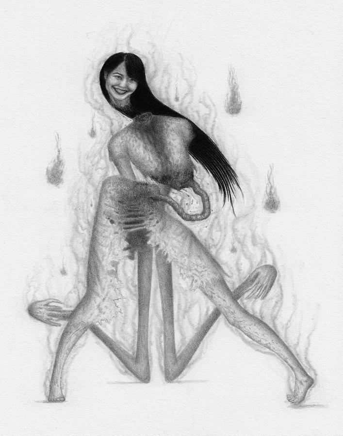 Horror Drawing - The Unspeakable - Artwork by Ryan Nieves