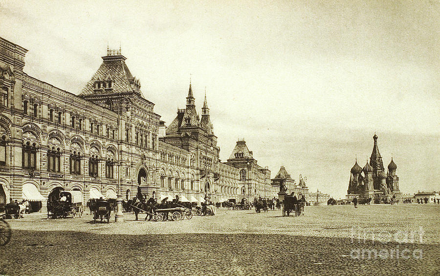 The Upper Trading Rows In Red Square Drawing by Heritage Images