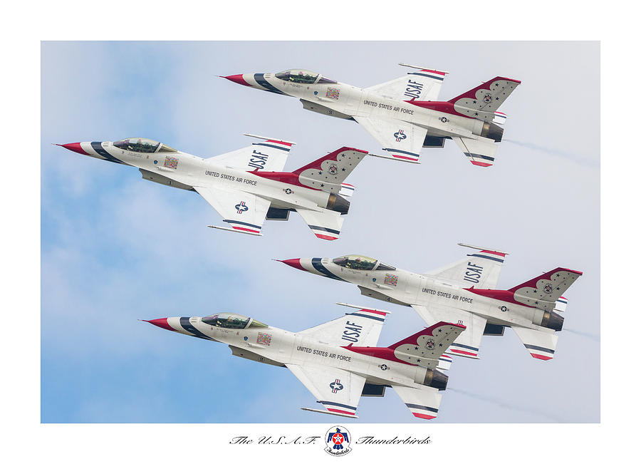 The Usaf Thunderbirds Photograph by Brian Caldwell