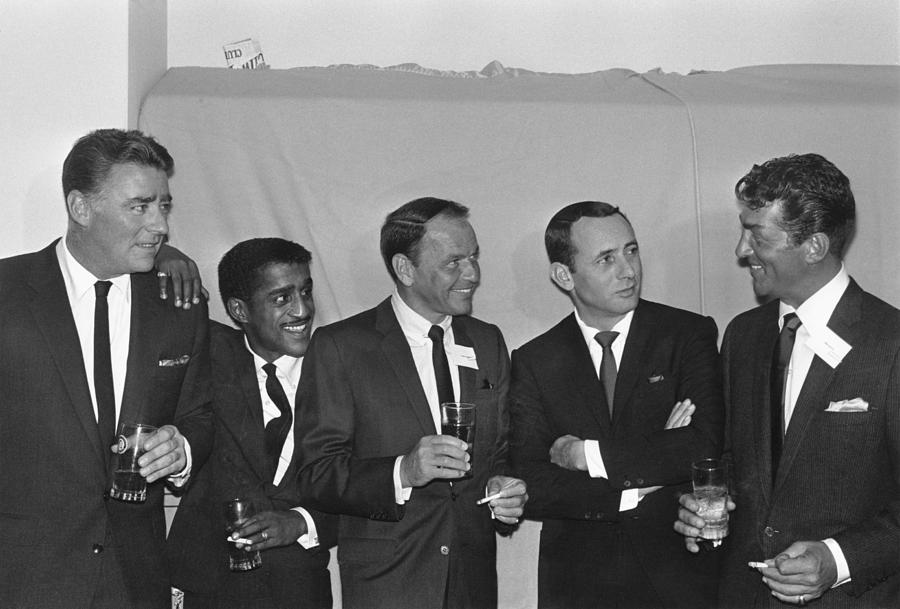 Singer Photograph - The Usual Rat Pack by Jack Albin