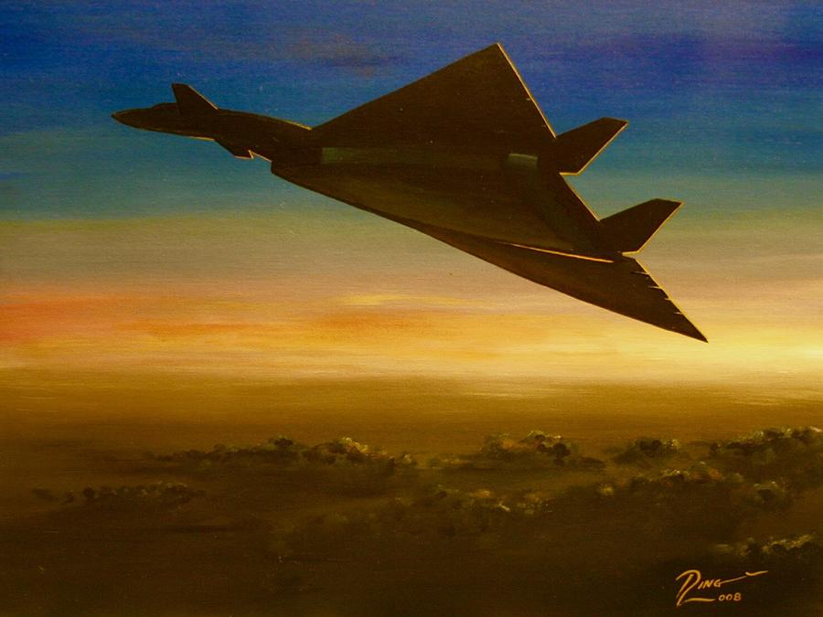 Xb-70 Painting - The Valkyrie by Peter Ring Sr