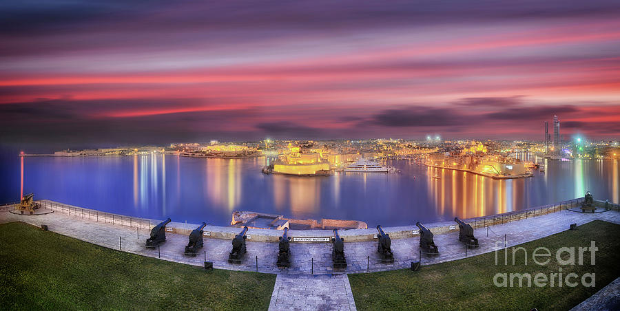 The Valletta Grand Harbour at sunset by Stephan Grixti
