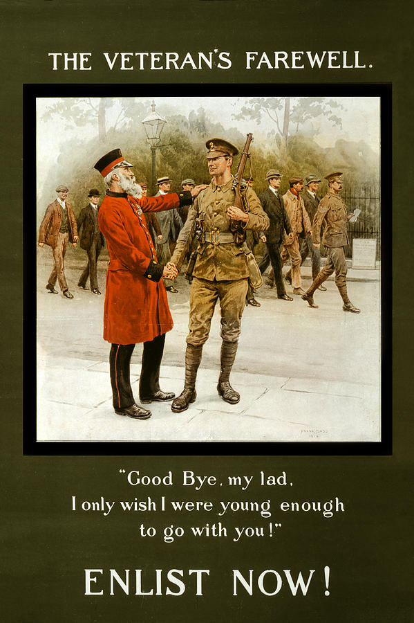The Veterans Farewell Poster 1914 by Carlos Diaz