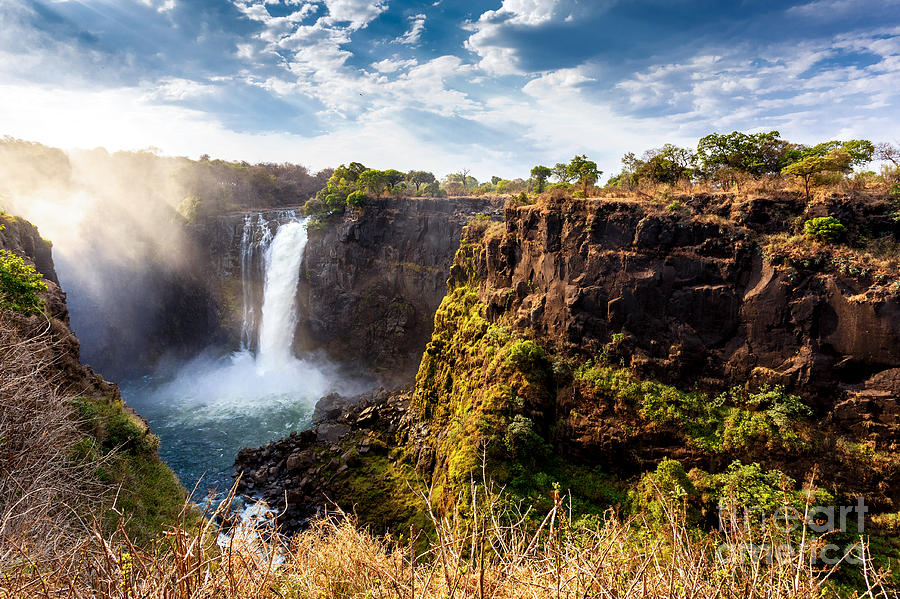 Beauty Photograph - The Victoria Falls Is The Largest by Artush