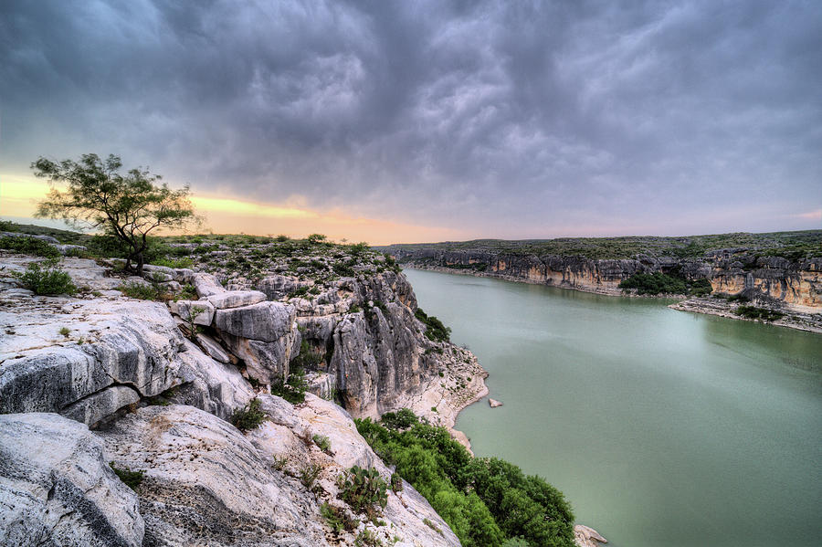 Pecos River Photograph - The View From The Pecos River Bridge by JC Findley