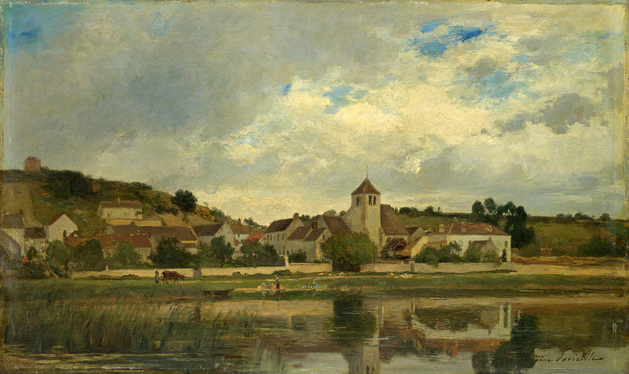 The Village of La Celle-sous-Moret by Eugene Lavieille