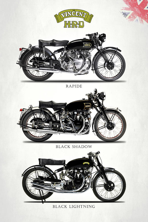 Vincent Motorcycle Photograph - The Vincent Collection by Mark Rogan