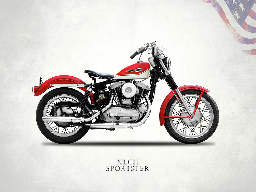 Xlch Photograph - The Vintage Sportster Motorcycle by Mark Rogan