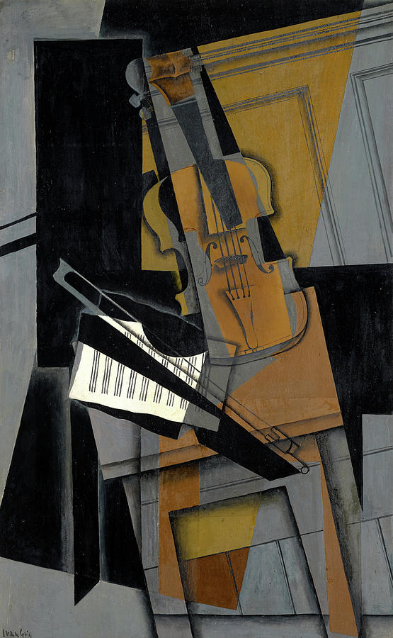 Juan Gris Painting - The Violin by Juan Gris