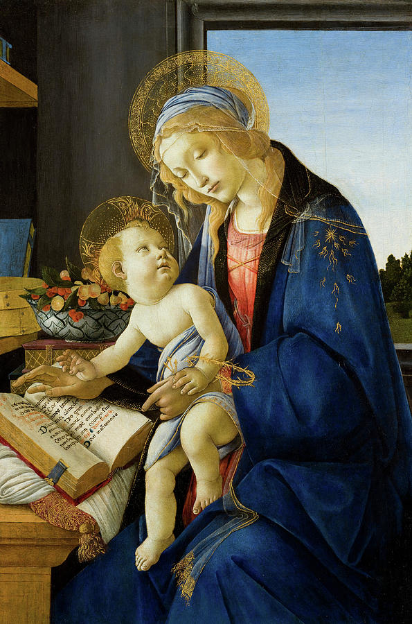 Sandro Botticelli Painting - The Virgin And Child, The Madonna Of The Book by Sandro Botticelli