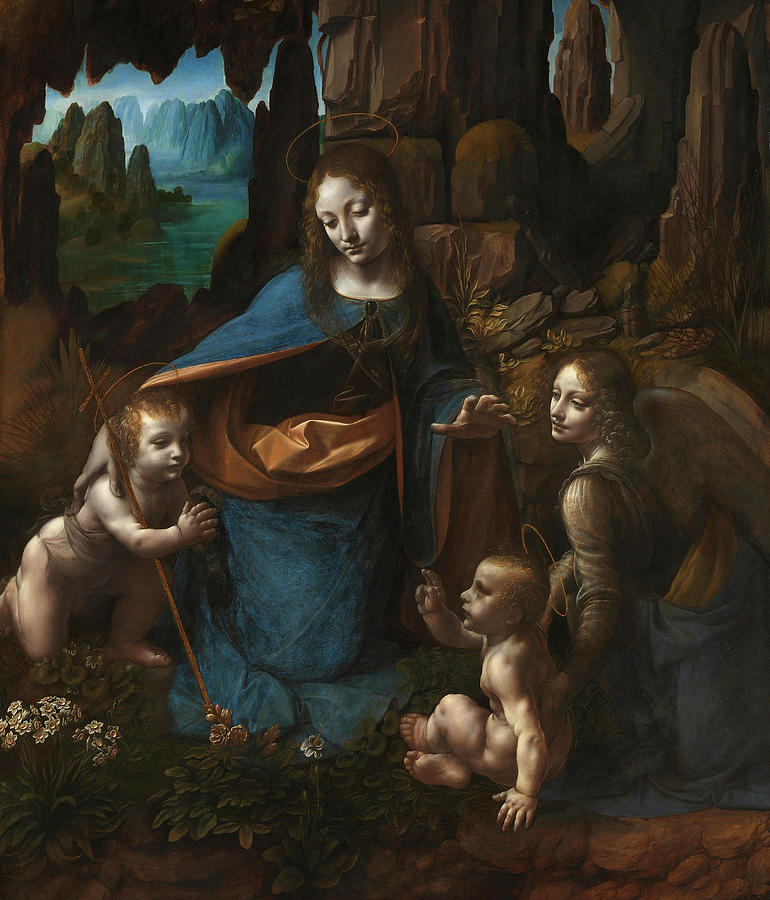 Rocks Painting - The Virgin Of The Rocks, 1508 by Leonardo da Vinci