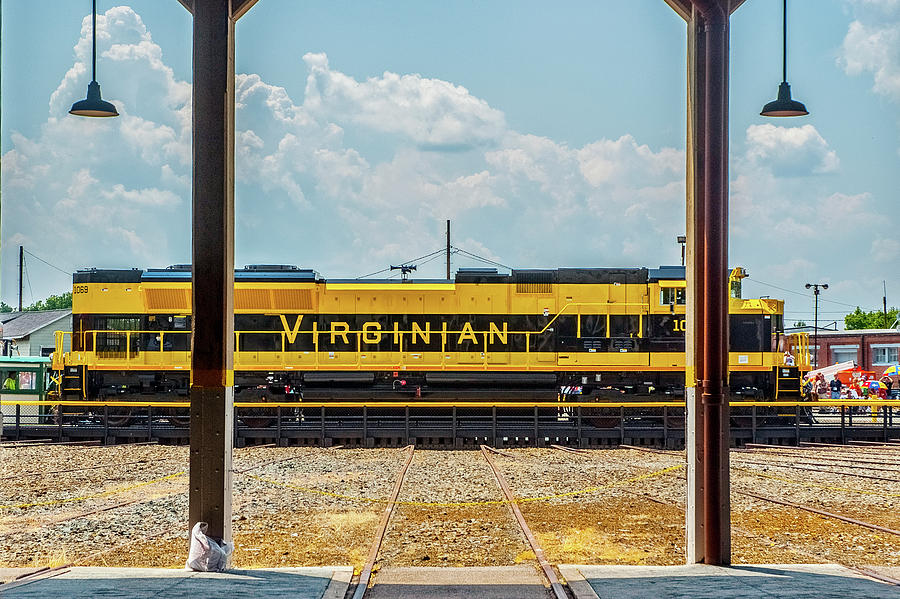 The Virginian Railway Unit on the Turntable by Matthew Irvin