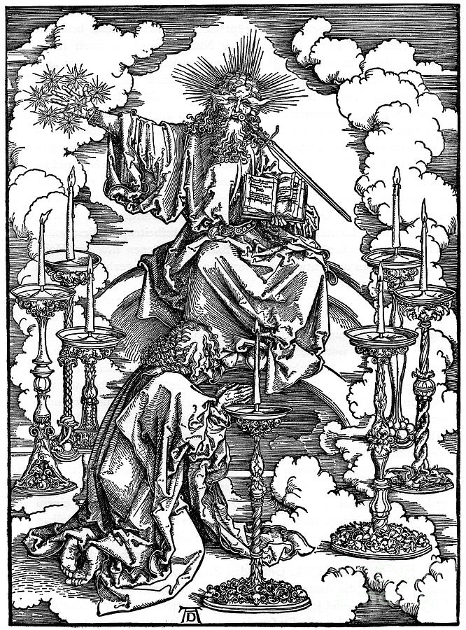 The Vision Of The Seven Candlesticks Drawing by Print Collector