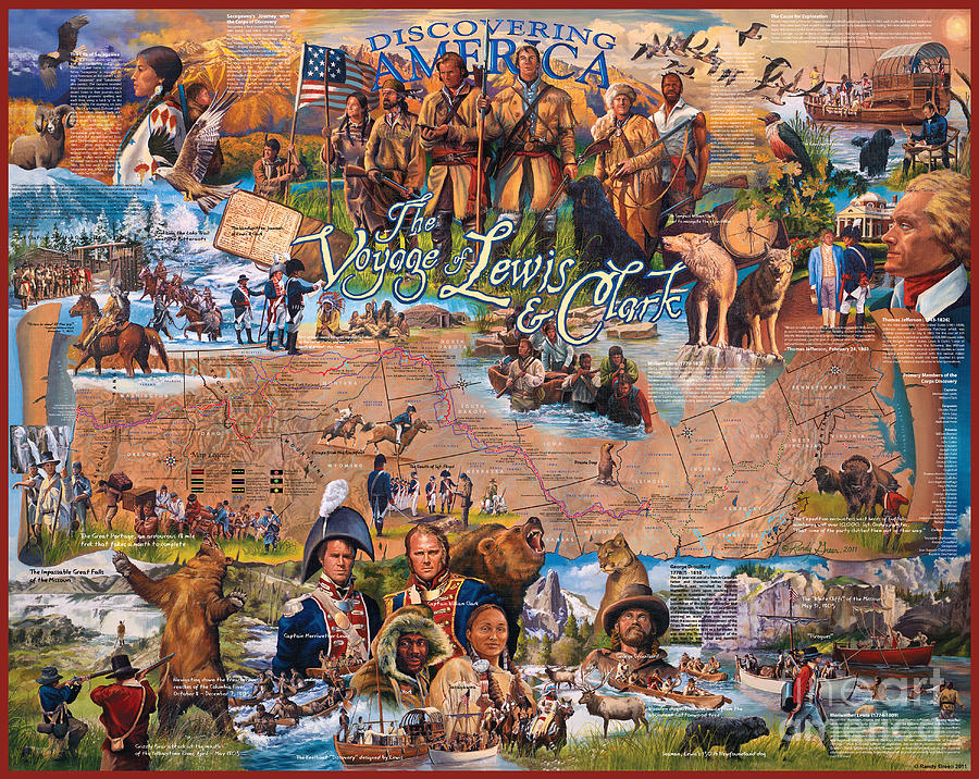 Grizzly Mixed Media - The Voyage Of Lewis And Clark by Randy Green