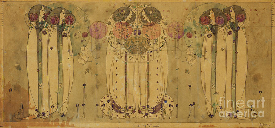 Figure Painting - The Wassail, 1900 by Charles Rennie Mackintosh