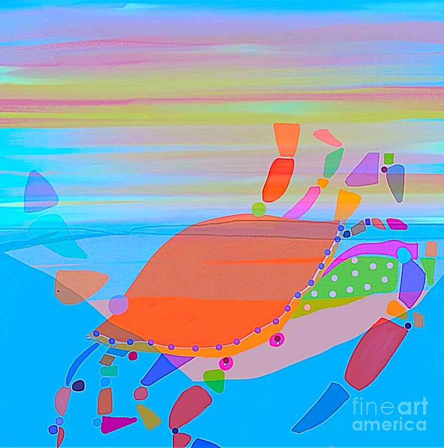 Soft Painting - The Crayola Crab by Terri Price
