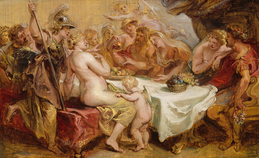 Flemish Painters Painting - The Wedding Of Peleus And Thetis by Peter Paul Rubens