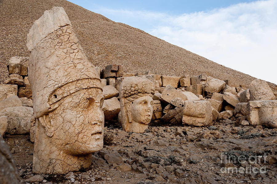 Anatolia Photograph - The West Terrace Of Mount Nemrut With by Cornfield