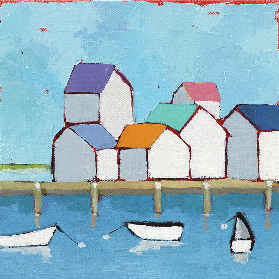 Architecture Painting - The Wharf by Phyllis Adams