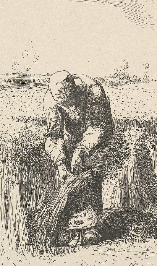 The Wheat Gatherer by Jean-Francois Millet