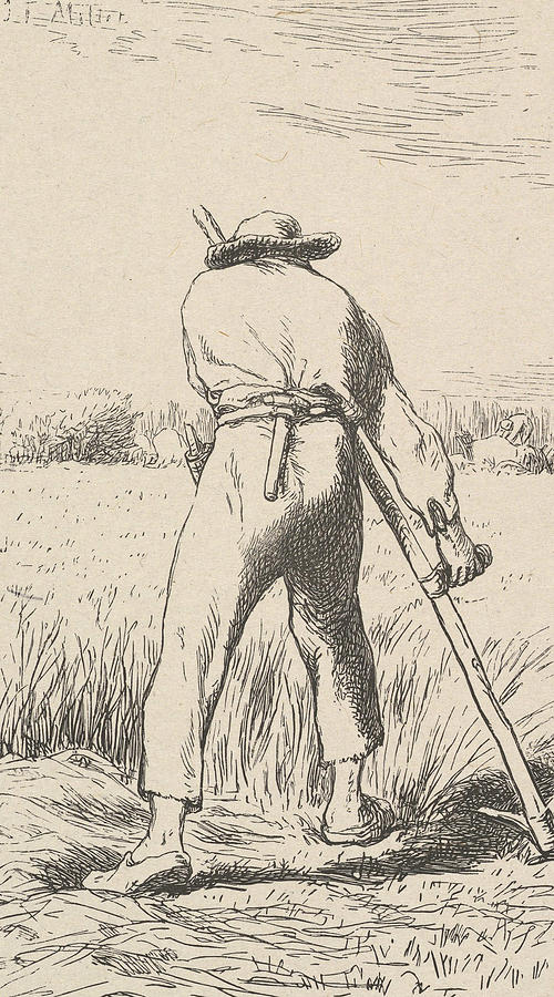 The Wheat Reaper by Jean-Francois Millet