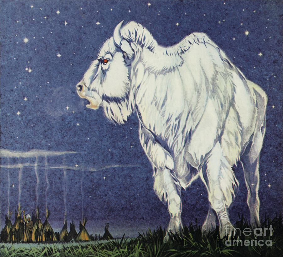 Star Painting - The White Buffalo by Angus McBride