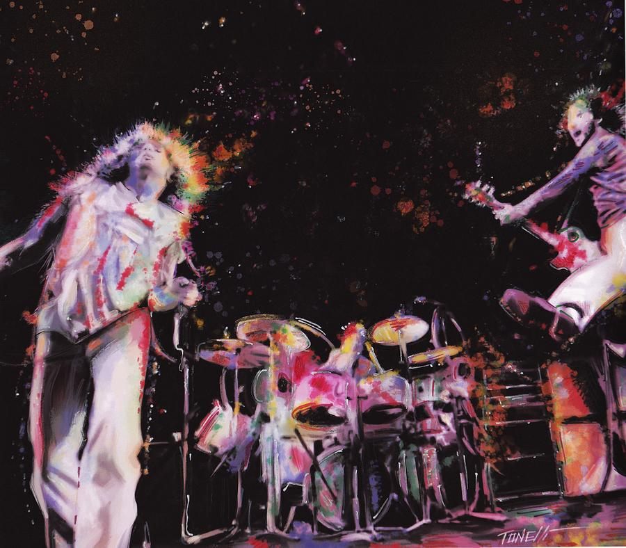 The Who In Concert Mixed Media